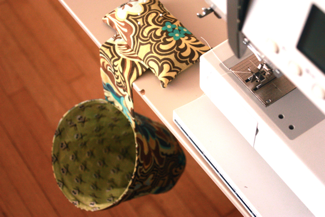 pin cushion/thread catcher