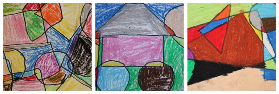Art Smart: A lesson in Shape, Mondrian & Oil Pastels   This Mama ...