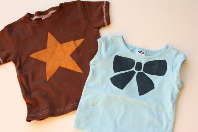 Save Stained Shirts with Freezer Paper Stenciling {tutorial