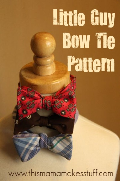 tutorial bow tie for your little guy this mama makes stuff