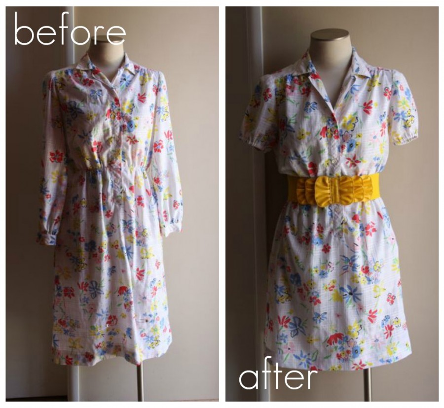 Making Stuff Old House Dress to Sweet Summer Dress refashion