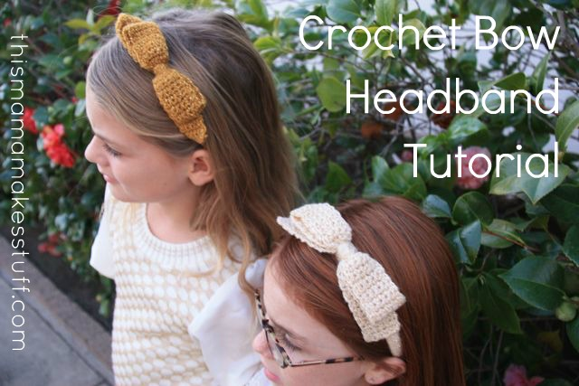 Tutorial Crochet Bow Headband This Mama Makes Stuff