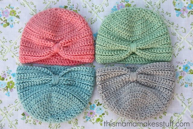 Crochet Baby Turban Pattern   Tutorial  7646bdb40c4