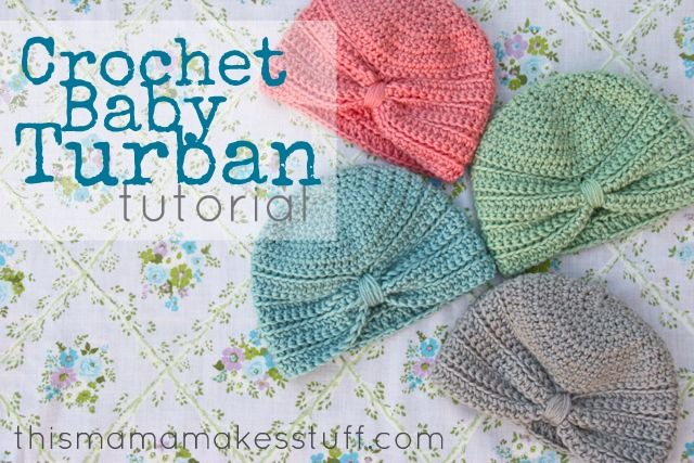 Crochet Baby Turban Pattern   Tutorial. This ... 2b9f5687da4