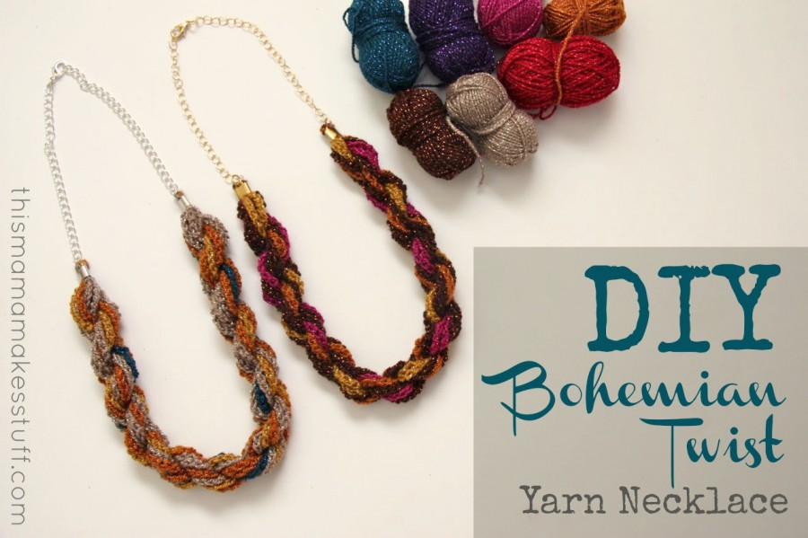 Tutorial Diy Bohemian Twist Yarn Necklace Beginner Crochet This