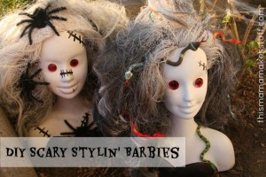 scary styling barbies