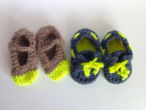 cutest crochet baby booties